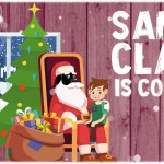 Santa Claus visits Number 16 School